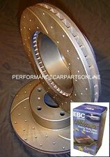 DRILLED & SLOTTED BMW E46 320i 323i 3 Series FRONT Disc Brake Rotors AND PADS