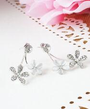 Flower Ear Jacket, Valentines Gift Idea, Double Flower Earring, Peekaboo Front