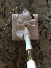 Satin Rose Pearl Wedding Pen Set