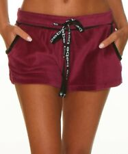 Bebe Women's Sleepwear Berry Heather Velour Pajama Shorts - Sz M