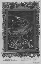Incisione su rame originale da Physica Sacra (1735-8) - Decora et Pecora Iobi