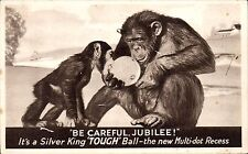 Golf Ball Advert. Silver King Tough Ball by Silvertown Co, London. Chimpanzees.