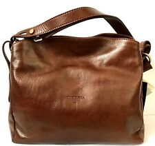 NWT**Cuoieria Fiorentina large shoulder bag in vegetable tanned leather--Brown