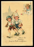 1942 Germany 3rd Reich Postcard Cover German WWII Hitler Youth Soldiers Parody