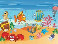 ART PRINT POSTER PAINTING DRAWING AQUATIC MARINE LIFE CARTOON SCENE LFMP0960