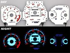 96-00 EK EX Civic EL Night Glow Gauges White Reverse MT Blue