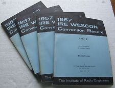 1957 IRE WESCON CONVENTION RECORD Institute of Radio Engineers (4 Books) SF Cal.