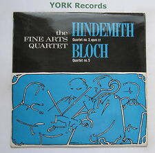SDBR 4225 - HINDEMITH / BLOCH - Quartets FINE ARTS QUARTET - Ex Con LP Record