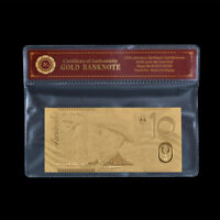 WR Craft 24K Gold Foil Banknote Australian $10 Dollar Gold Paper Bank Note Gifts