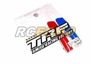 Tamiya RC Model TRF Stripe White T-Shirt A (Small) 67240
