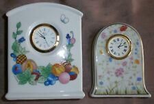 Horloge en porcelaine LEONARD HUTSCHENREUTHER + Cadeau 1 Haviland hors service