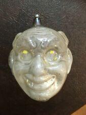 Rare Antique Christmas Ornament Large Scary Devil Head No Paint