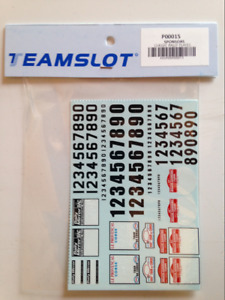 Team Slot Classic Rally Plates Decals Sheets 1:32 Scale NEW