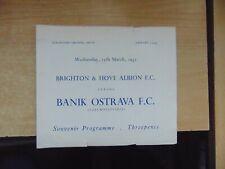 Friendly 1956/7 Brighton v Banik Ostrava Czechoslovakia