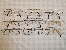 Lot 9 Vintage Luxottica Klixx Aviator Eyeglasses Sunglasses Frame Carlos Neil