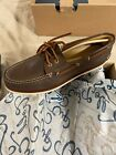 New Sperry Top Sider Mens Gold Cup A/O Brown Boat Shoes Size 13