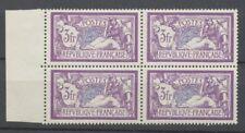 1925-26 Merson 3f violet et bleu en bloc de 4 TBC. Neuf Luxe ** P2287
