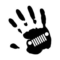 JEEP WAVE HAND Sticker Decal 4x4 4WD Funny Ute #7040EN