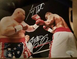 Larry Holmes & Butterbean signed 8x10 photo  JSA coa