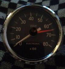 NOS - Vintage Vegila Borletti Max Hand Rev Counter / Tachometer - 80mm