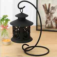 Unique Black Metal Hanging Moroccan tealight Candle Lantern Table Filigree