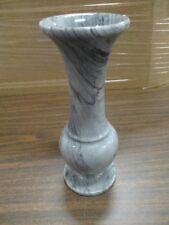 """Vintage Marble Grey Swirl Bud Vase - 8"""" tall"""