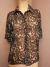 Atmosphere Chiffon Animal Print Tops & Shirts for Women