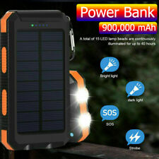 900,000mAh Dual USB Portable Solar Battery Charger Solar Power Bank For Phone