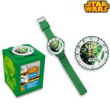 Analog Wristwatch Star Wars Yoda 4in1 Piggy Bank Picture Kids EURO