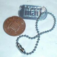 Action man 40th metal dog tag with chain 1/6th scale toy accessory