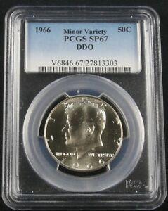 1966 KENNEDY HALF DOLLAR PCGS SP 67 DDO