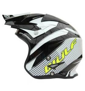 Wulf Open Face Impact Helmet for Autograss Oval Racing Fiberglass ECE R 2205