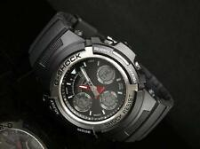 Casio G-Shock AW-590-1A Men Alarm Black Strap Water Resistant Watch AW-590-1ADR