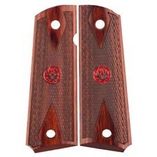 Ruger - 1911 Grip Set - Rosewood Double Diamond - Medallion / Logo - Factory