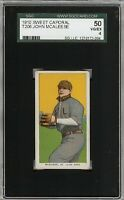 1909-11 T206 John McAleese Sweet Caporal 350 St Louis SGC 50 / 4 VG - EX