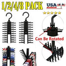 8PACK Cross X Hangers Tie Belt Rack Organizer Hanger Non-Slip Clips Holder Stand