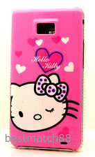 for samsung galaxy s2 S II i9100 and i777 pink  hard case cover skin