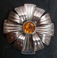 Vintage La Guta Italy Sterling Silver 925  Modernist  Broche Spilla argento