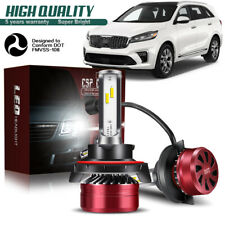 H13 9008 LED Headlight Bulb 60W 12000LM Kit High Low Beam Headlamp 6000K DWG