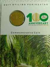 100 years Anniversary Kelapa Sawit / Oil Palm Nordic Gold coin card