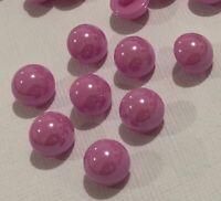 10 Pink Shank Buttons 12mm L0044 AUSSIE SELLER