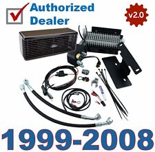 New 2.0 Black Ultracool The Reefer Oil Cooler Fan Cooling System Harley Touring