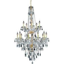 Asfour Crystal Tear Drop Chandelier Gold Large Foyer Dining Room 15 Light 52""