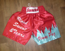 Vinny Paz SIGNED AUTOGRAPH Blood Sweat & Tears Boxing Trunks AFTAL UACC