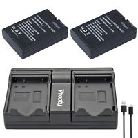 2Pcs EN-EL14  + USB Dual Charger For Nikon DF D90 D300 D5300 D5200 D5100 D3300