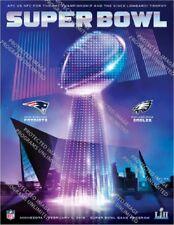 Super Bowl 52 Holographic Program Patriots Eagles Stadium Version Superbowl LII