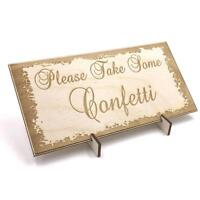 Wooden Wedding signs Plaques, Gift Present Please Take Confetti LPS-2