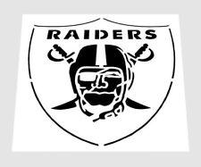 "NFL ** OAKLAND RAIDERS STENCIL ** FREE USA S&H ** RAIDER NATION * 6"" x 6"" inches"