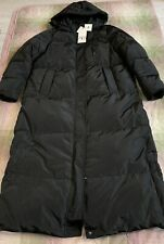 Zara Long Down Jacket with Water and Wind Protection. Size XL