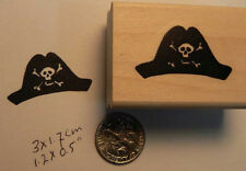 Pirate hat rubber stamp WM FL